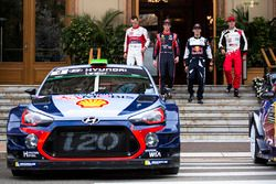 Kris Meeke, Citroën World Rally Team; Thierry Neuville, Hyundai Motorsport; Sébastien Ogier, M-Sport; Jari-Matti Latvala, Toyota Racing