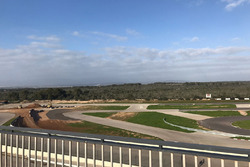 Timo Scheider track under construction at Mallorca