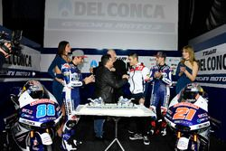 Jorge Martín, Gresini Racing Team and Fabio Di Giannantonio, Gresini Racing Team with Fausto Gresini, Team Manager and Jorge Navarro, Federal Oil Gresini Moto2