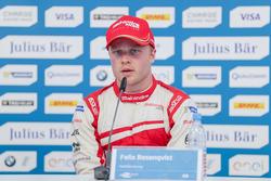 Felix Rosenqvist, Mahindra Racing, nella conferenza stampa
