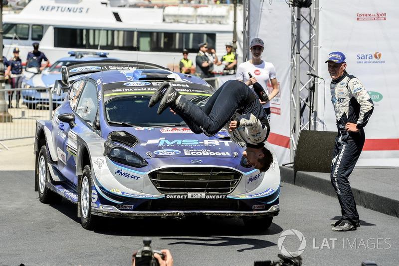 Rally winners Ott Tänak, Martin Järveoja, M-Sport, Ford Fiesta WRC