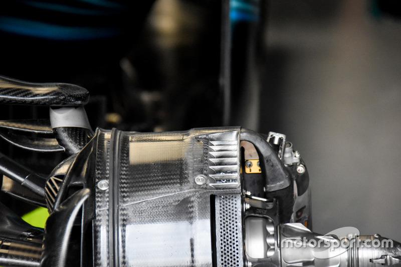 Mercedes AMG F1 W08, remmen detail