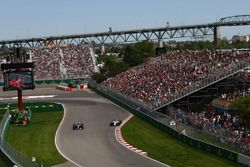 Valtteri Bottas, Mercedes-Benz F1 W08 and Lance Stroll, Williams FW40