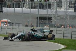 Valtteri Bottas, Mercedes-Benz F1 W08, en tête-à-queue