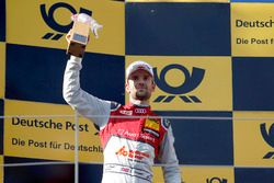 Podium: tweede plaats Jamie Green, Audi Sport Team Rosberg, Audi RS 5 DTM