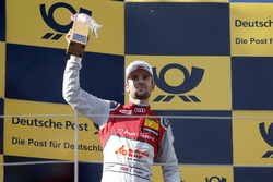 Podium: tweede plaats Jamie Green, Audi Sport Team Rosberg, Audi RS 5 DTM