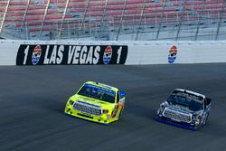 Matt Crafton, ThorSport Racing Toyota and Ryan Truex, Hattori Racing Enterprises Toyota