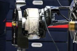 Red Bull Racing RB13 rear wheel detail