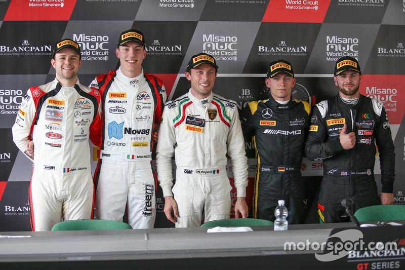 Jules Gounon, Raffaele Marciello, Akka ASP, Polesitter Marco Mapelli, Attempto Racing, Maximilian Bu