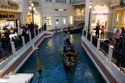 A gondola in the Las Vegas Grand Canal