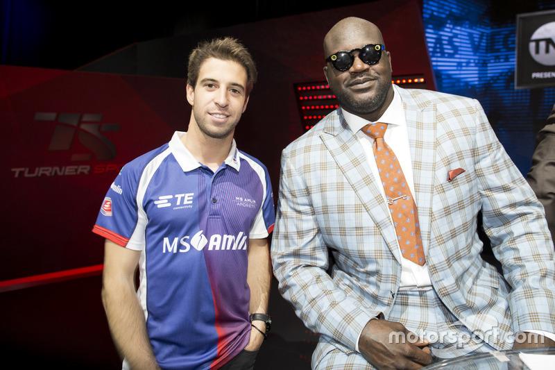 Antonio Felix da Costa, Amlin Andretti Formula E Team,  con la leyenda del baloncesto Shaquille O'Neal