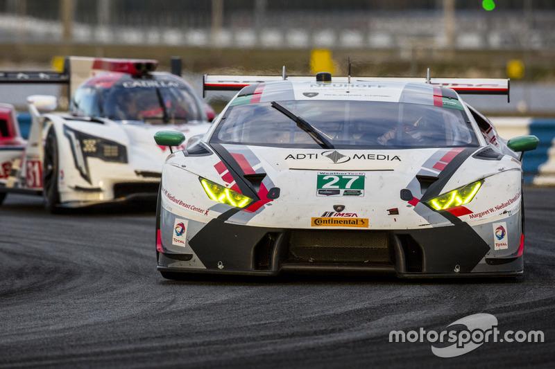 #27 Dream Racing, Lamborghini Huracan GT3: Cedric Sbirrazzuoli, Lawrence DeGeorge, Raffaele Giammari