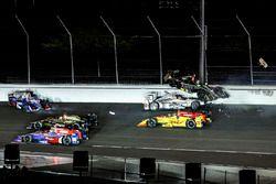 Ryan Hunter-Reay, Andretti Autosport Honda, Will Power, Team Penske Chevrolet, Ed Carpenter, Ed Carp