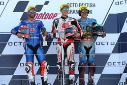Podium: 1. Takaaki Nakagami, Idemitsu Honda Team Asia; 2. Mattia Pasini, Italtrans Racing Team; 3. F
