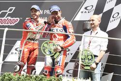 Podium: Danilo Petrucci, Pramac Racing, Claudio Domenicali, Ducati CEO Andrea Dovizioso, Ducati Team