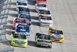 Matt Crafton, ThorSport Racing, Toyota; Justin Haley, Fraternal Order of Eagles, Chevrolet; Todd Gil