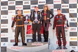 TCA Podium: first place Dean Copeland, Copeland Motorsport, second place Elivan Goulart, S.A.C. Racing, third place Matthew Fassnacht, S.A.C. Racing