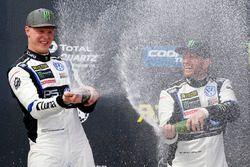 Podium: winner Johan Kristoffersson, Volkswagen Team Sweden, third place Petter Solberg, PSRX Volkswagen Sweden