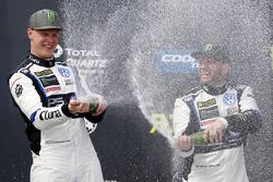 Podio: il vincitore Johan Kristoffersson, Volkswagen Team Sweden, il terzo classificato Petter Solbe