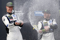Podium: winner Johan Kristoffersson, Volkswagen Team Sweden, third place Petter Solberg, PSRX Volksw