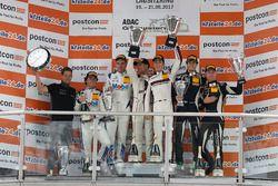 Podium: 1. #99 Precote Herberth Motorsport, Porsche 911 GT3 R: Robert Renauer, Sven Müller, 2. #21 M