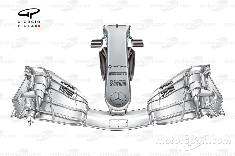 Nez étroit de la Mercedes W08, GP d'Espagne