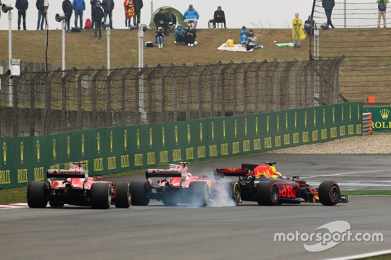 Daniel Ricciardo, Red Bull, Kimi Räikkönen, Sebastian Vettel, Ferrari