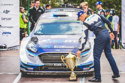 Ott Tänak, M-Sport with the trophy
