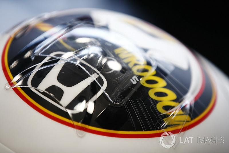 Détails du casque spécial de Stoffel Vandoorne, McLaren, pour son GP à domicile