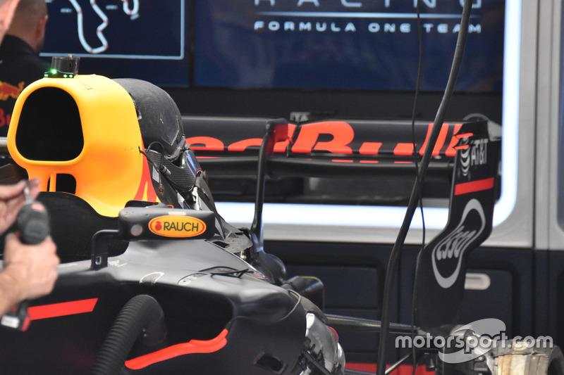 Dettaglio posteriore della monoposto di Max Verstappen, Red Bull Racing RB13