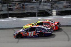 Denny Hamlin, Joe Gibbs Racing Toyota, Dale Earnhardt Jr., Hendrick Motorsports Chevrolet
