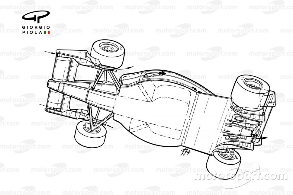 Ferrari F1-91 (642) 1991 underside view