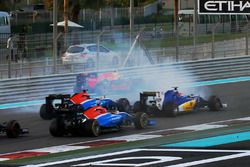 Max Verstappen, Red Bull Racing spins on the opening lap