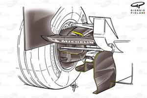 McLaren MP4-20 2005 rear-end aero detail
