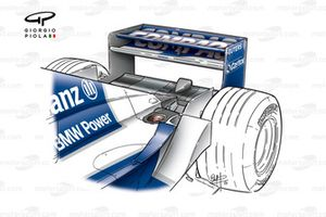 Williams FW23 2001 exhaust outlet view
