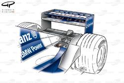 Sortie d'échappement de la Williams FW23