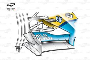 Renault R202 2002 front wing