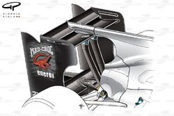 Sauber C29 rear wing with F-Duct