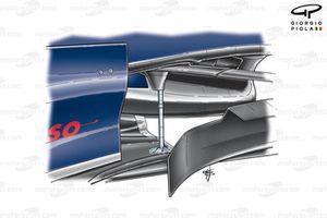 Toro Rosso STR02 (Red Bull RB3) 2007 floor fixing