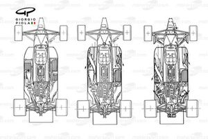 Brabham BT55 component evolution, maximising packaging and airflow
