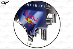 Plaque d'extrémité de l'aileron arrière de la Red Bull RB7