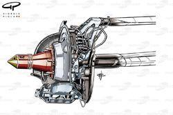 DUPLICATE: Sauber C33 rear 4 pot brake caliper