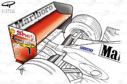 Aileron arrière de la Ferrari F2001 (652)