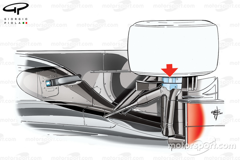 McLaren MP4/28 rear suspension design, third view