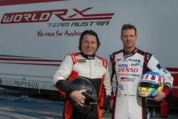Max Pucher, Alexander Wurz before testing the World RX Team Austria Ford Fiesta