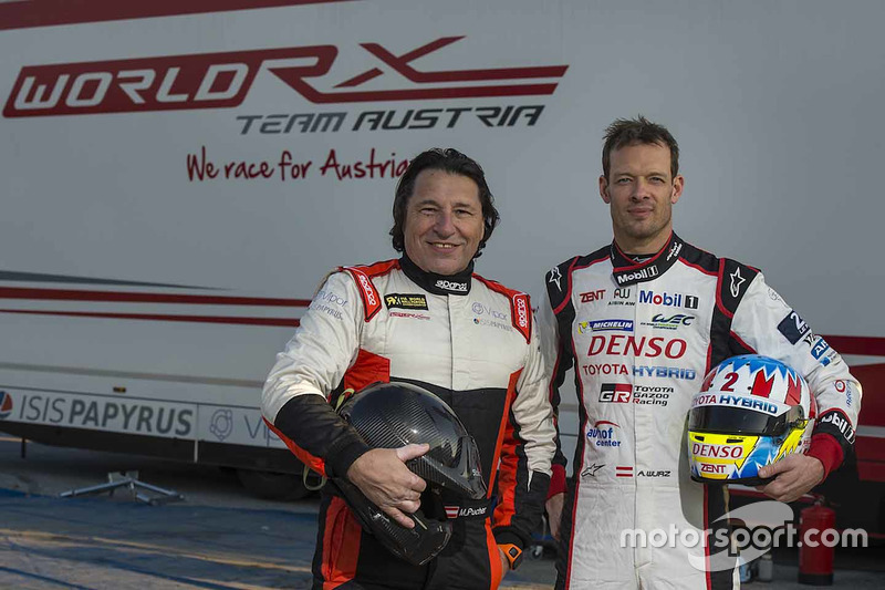 Max Pucher ve testten önce Alexander Wurz, World RX Team Austria Ford Fiesta