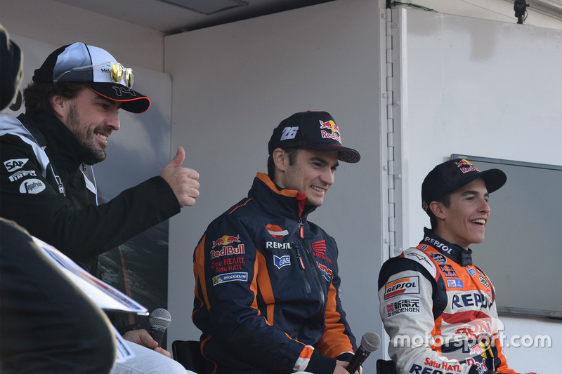 Fernando Alonso, Dani Pedrosa y Marc Márquez