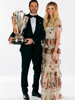 Champion Jimmie Johnson, Hendrick Motorsports Chevrolet and wife Chandra