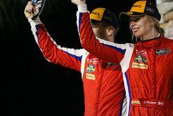 GTD podium: second place Christina Nielsen, Scuderia Corsa Ferrari