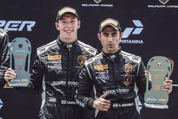 Podium: third place #5 FFF Racing Team Lamborghini Huracan GT3: Armaan Ebrahim, Jack Bartholomew
